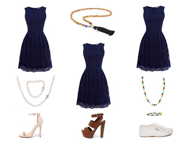 Outfit: Modrá - 3krát jinak