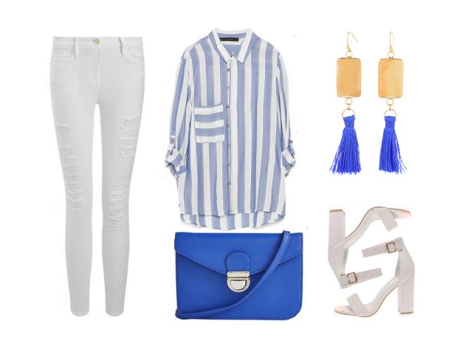 Outfit: Královská modrá