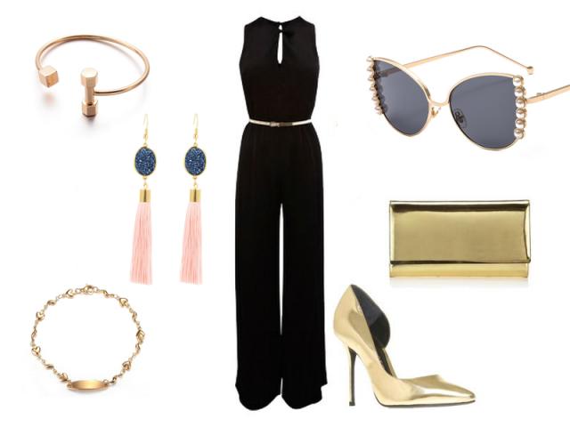Outfit: Zlaté doplňky