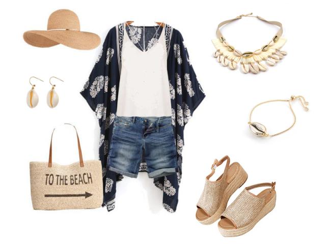 Outfit: Na pláž s mušlemi