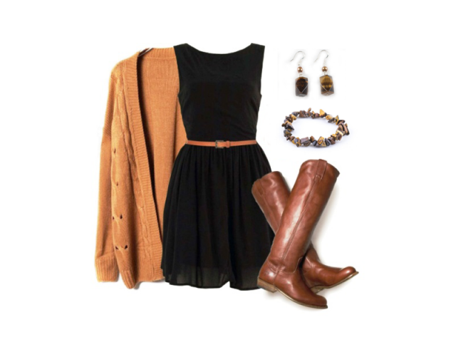 Outfit: Hnědá je dobrá
