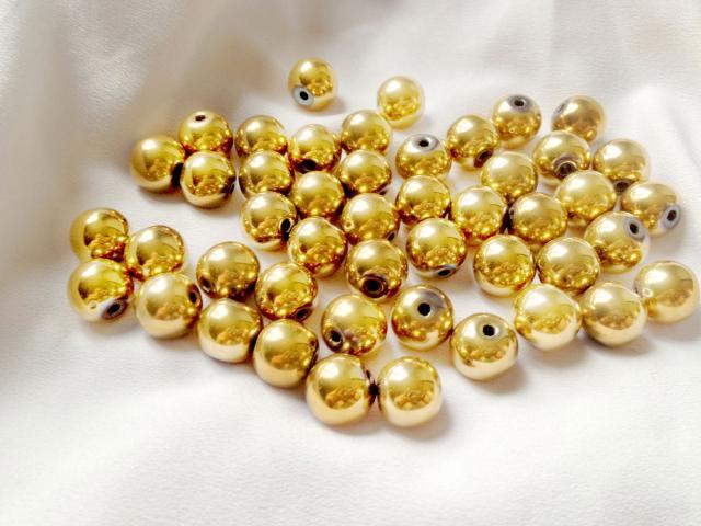 Hematit - zlatý 10 mm
