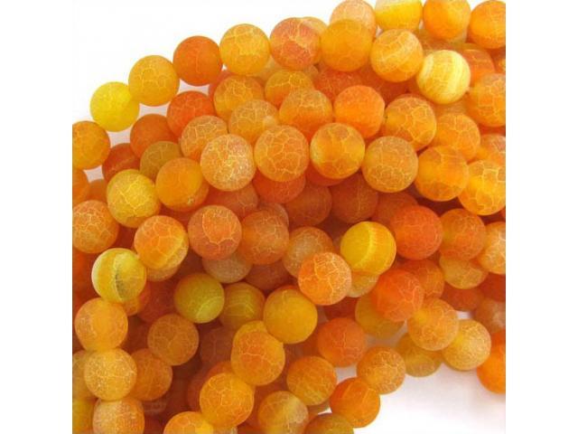 Achát - oranžový frost 8 mm