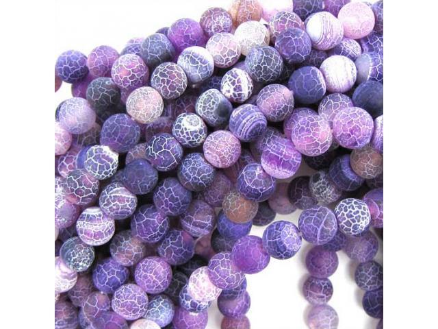 Achát - fialový frost 8 mm