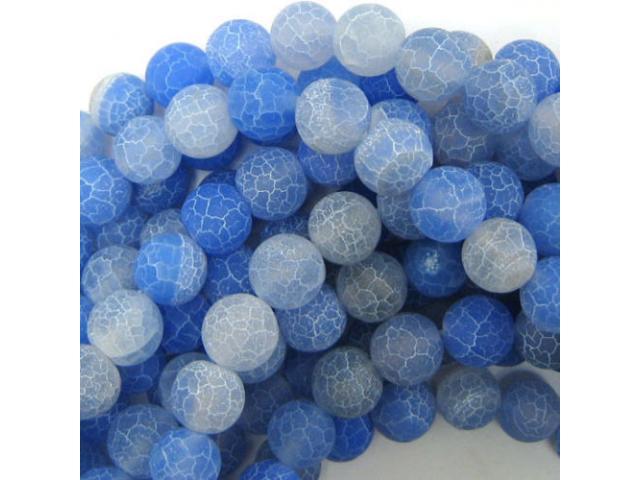 Achát - modrý frost 10 mm