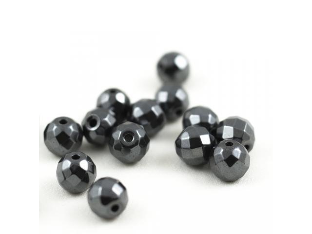 Hematit - černý broušený 10 mm
