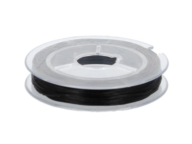 Elastická nit 0,8mm x 10m - černá