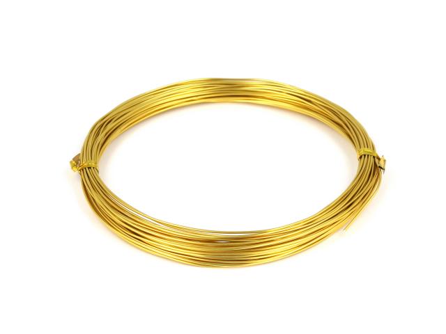 Hliníkový drát 0,8mm - zlatá