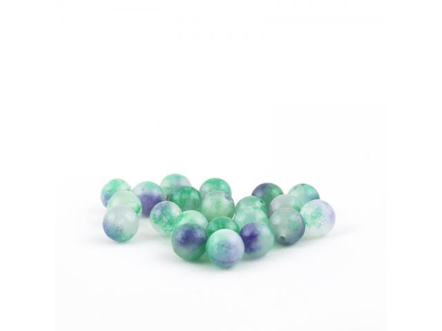 Fialovo-zelený malajský jadeit 10 mm
