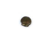 Kovový korálek - lastura - starobronzový