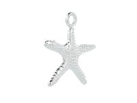 Kovový přívěsek - hvězdice - stříbrný