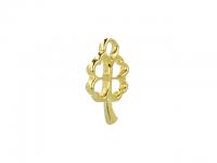 Kovový přívěsek - čtyřlístek - zlatý
