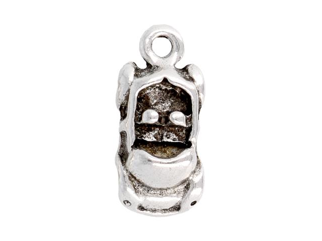 Kovový přívěsek - kabriolet - starostříbrný