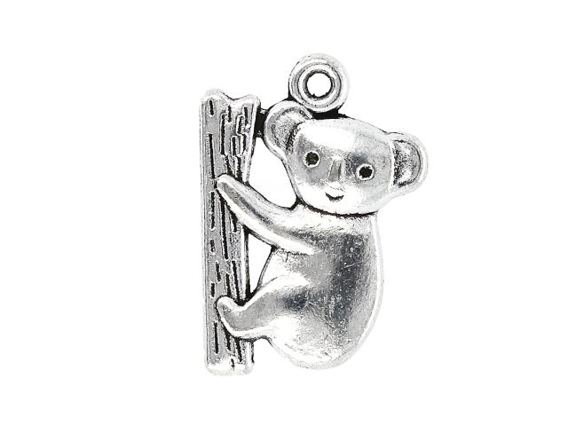 Kovový přívěšek - panda - starostříbrný