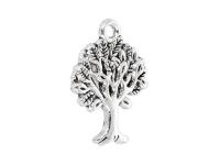 Kovový přívěšek - strom života - starostříbrný
