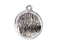 Kovový přívěšek - polokoule - starostříbrný