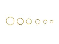 Box - spojovací kroužky dvojité 4-10mm - zlatá