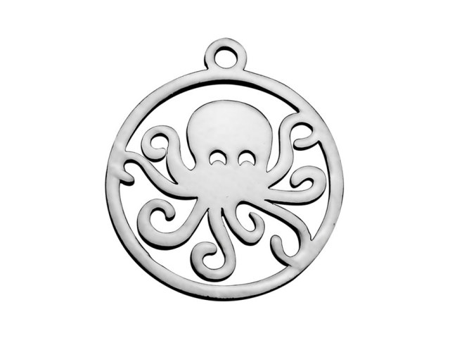Přívěsek z chirurgické oceli - chobotnice
