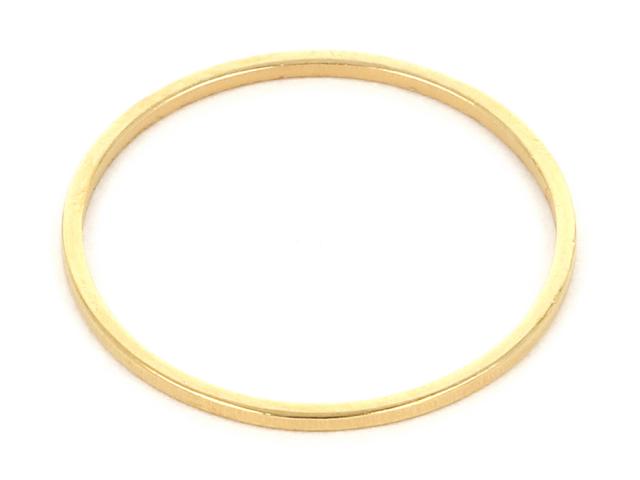 Ocelový ozdobný kroužek 19,5mm - zlatá