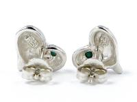 Stříbrné srdíčkové náušnice (Ag925) a tyrkys