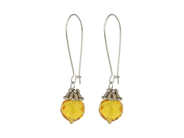 Náušnice broušený citrín
