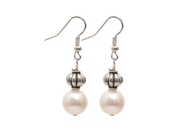 Náušnice 10-11mm bílá říční perla