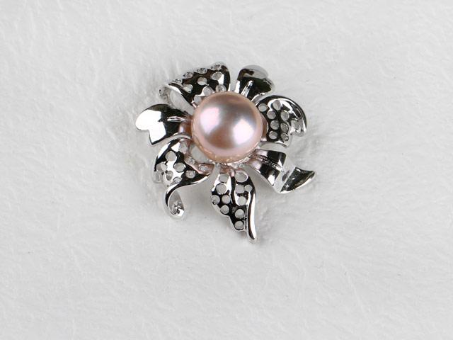 Přívěsek ve tvaru květu fialová říční perla II (bez řetízku)
