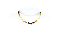 Dětský náhrdelník jantar duhový neleštěný
