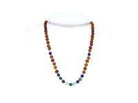 Náhrdelník jantar koňakový + lapis lazuli, amazonit a africký jadeit
