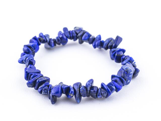 Elastický sekaný náramek lapis lazuli