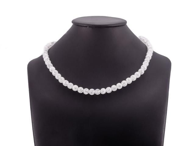 Kuličkový náhrdelník praskaný křišťál