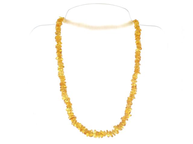 Sekaný náhrdelník světlý jantar