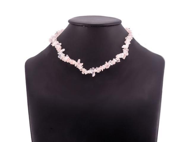 Sekaný náhrdelník růženín se zapínáním