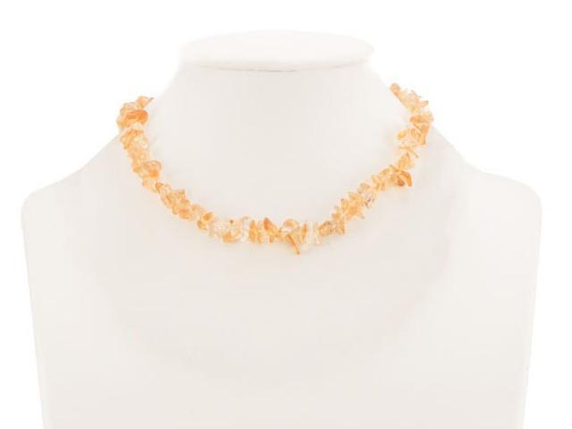 Sekaný náhrdelník citrín se zapínáním