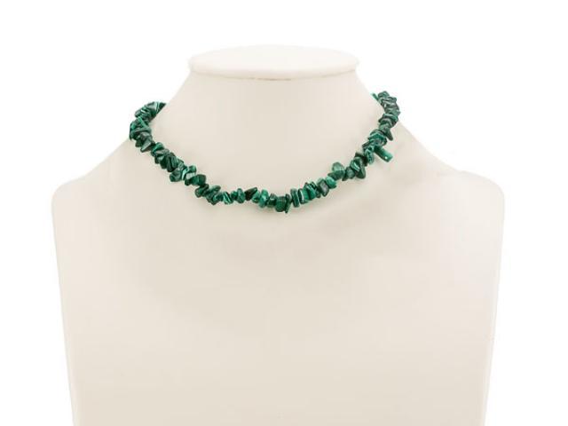 Sekaný náhrdelník malachit se zapínáním