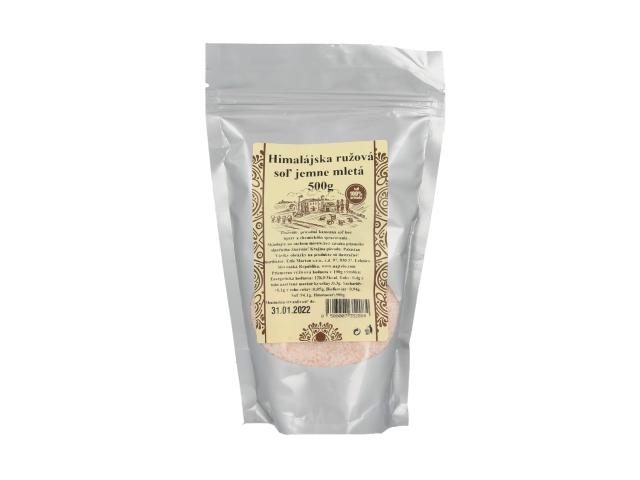 Pravá himálajská sůl růžová - jemně mletá 500g