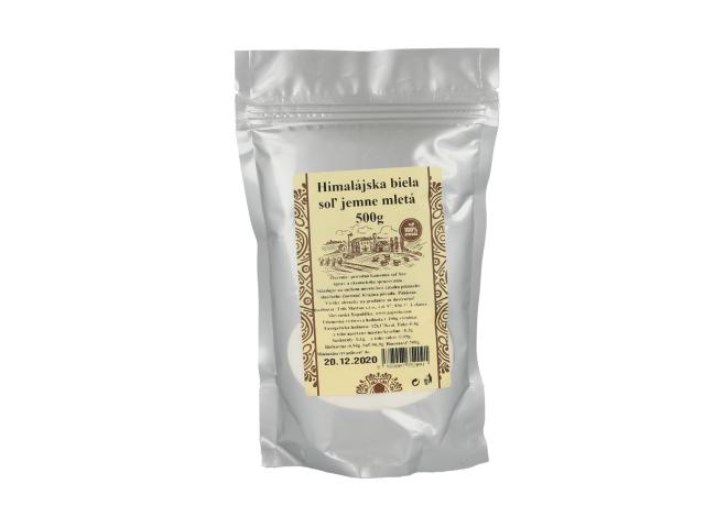 Pravá himálajská sůl bílá - jemně mletá 500g