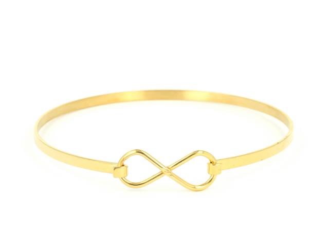 Ocelový náramek Infinity - zlatý