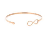 Ocelový náramek Infinity - růžovo-zlatý