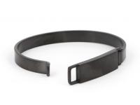 Ocelový plochý ID náramek - gunmetal