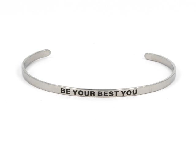 Ocelový náramek Be your best you