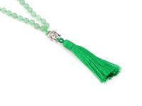 Buddha náhrdelník avanturín se střapcem