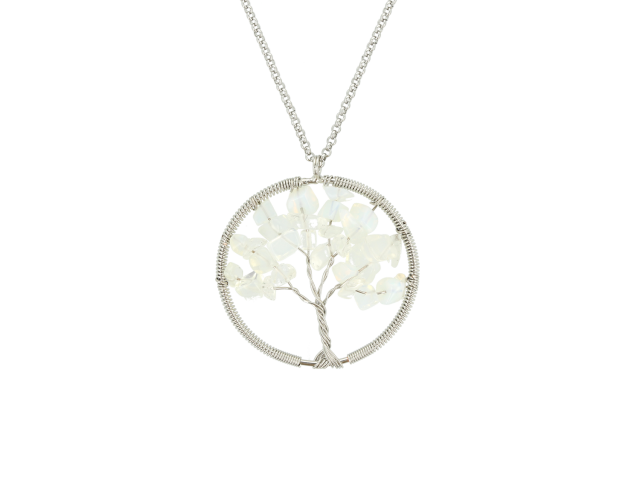 Ocelový náhrdelník s přívěskem strom života - opalit