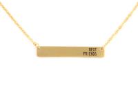 Ocelový náhrdelník Best friend - zlatý