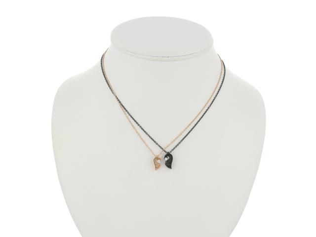 Ocelové náhrdelníky pro páry - vlny