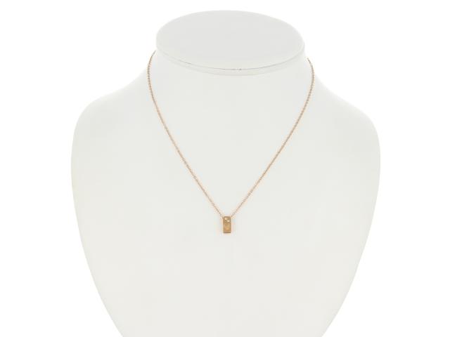 Ocelový náhrdelník Spiral - růžovo-zlatý