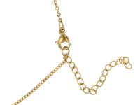 Ocelový náhrdelník - beran - zlatý