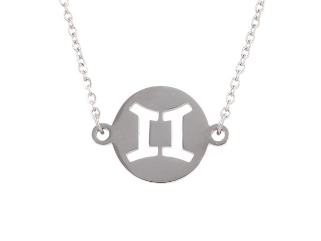Ocelový náhrdelník - blíženci