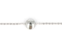 Ocelová souprava náhrdelník, náramek a náušnice - knoflíky