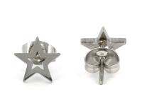Ocelové náušnice Star